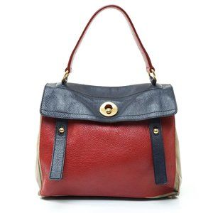 Auth Yves Saint Lauren Hand Bag Leather #8322Y25